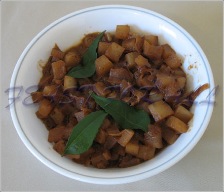 Spicy Radish Curry