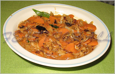 Carrot Cabbage Curry