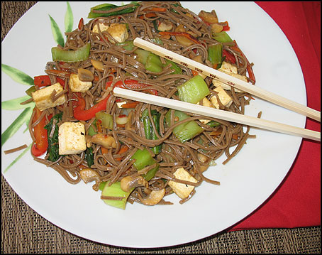 Stir-Fried Soba Noodles with Veggies
