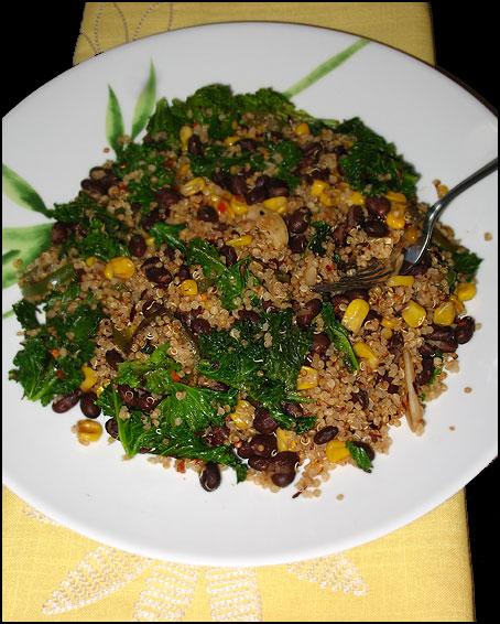Vegan Quinoa Kale Cakes